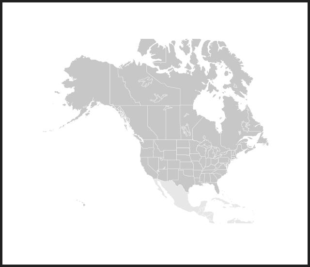 modal map n america