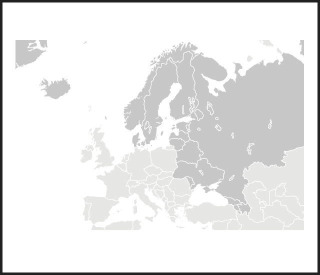 Modal map n europe russia